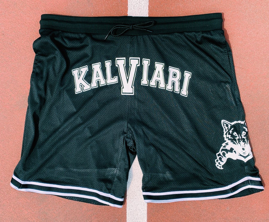 Image of KALVIARI PROWLER WARM UP SHORTS (BLACK X WHITE)