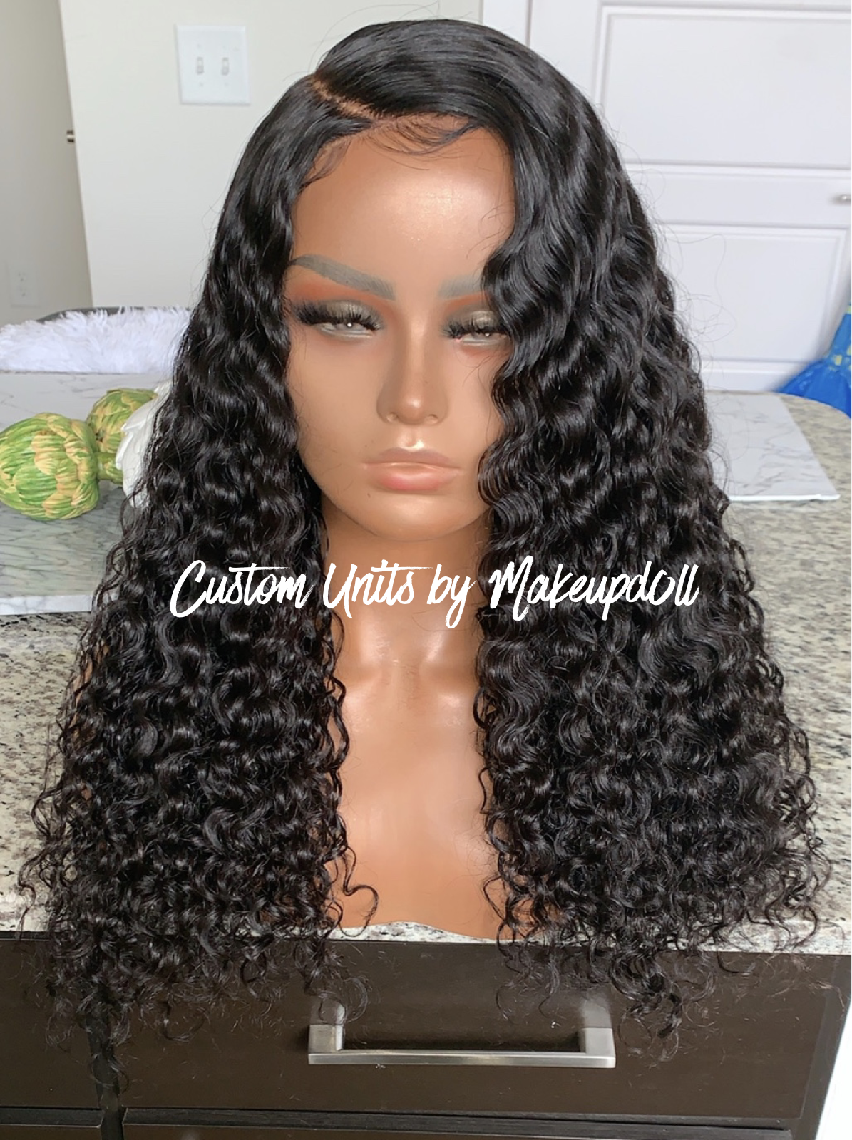 "Image of Indian Wavy/Curly 22"" 13x6 Lace Frontal Wig!"