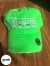 Melanated Dad Dat - Distressed Neon Green