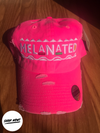 Melanated Dad Hat - Distressed Neon Pink