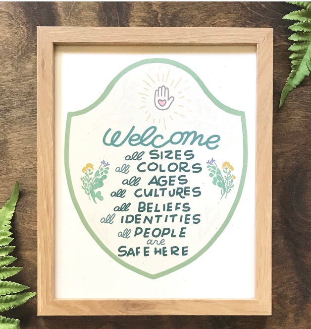 Image of Welcome All Archival Print