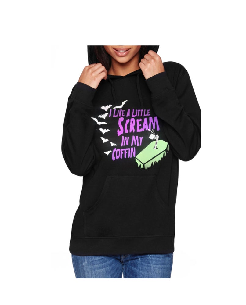Image of Scream In My Coffin Unisex Pullover Hoodie