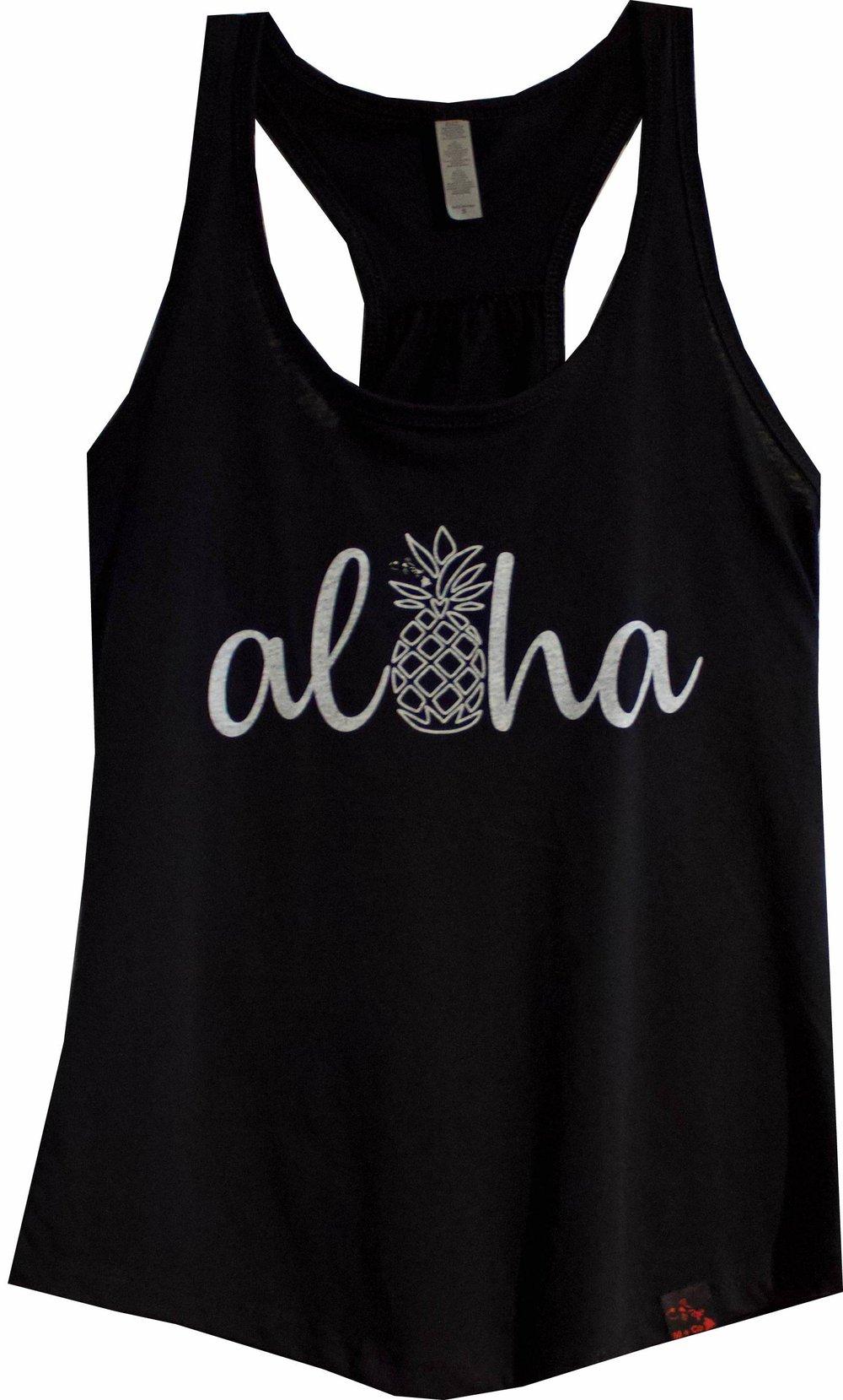 Image of Aloha Pineapple - Black Tank