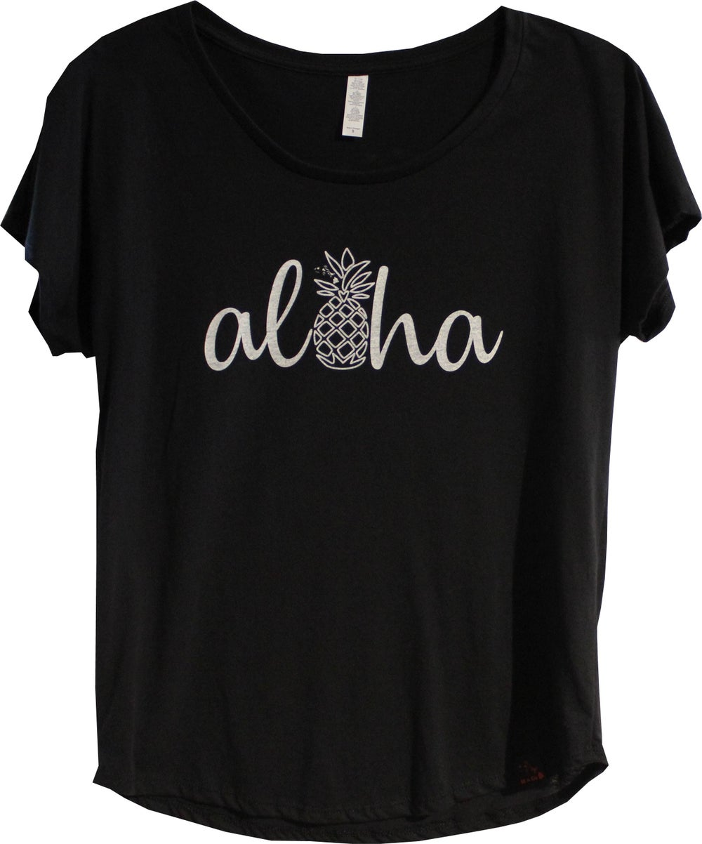 Image of Aloha Pineapple - Black
