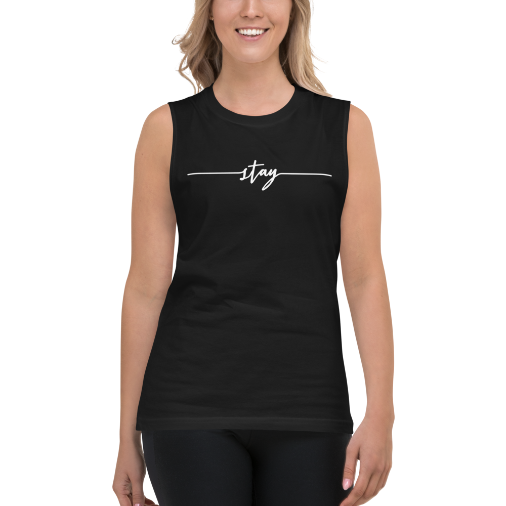 Image of Unisex Stay Muscle Tee - Black