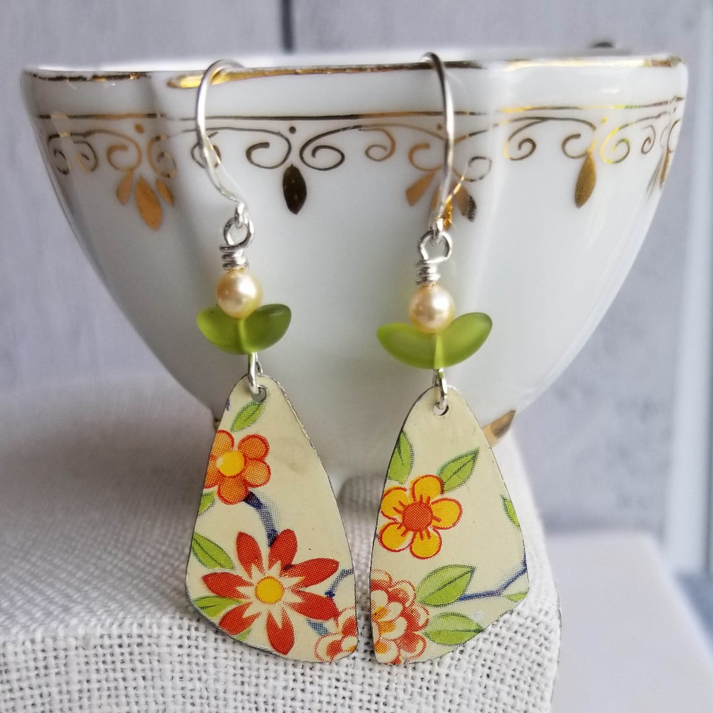 Image of Pottery Shard Earrings - 6