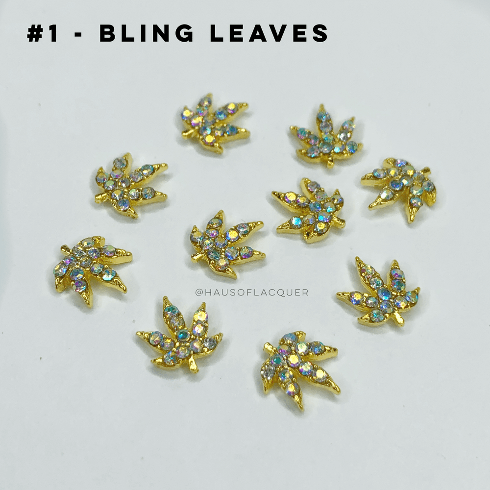 Image of 420 RHINESTONE LEAVES ❤︎ 10 PIECES