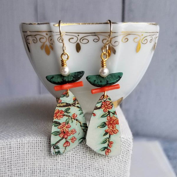 Image of Pottery Shard Earrings - 10