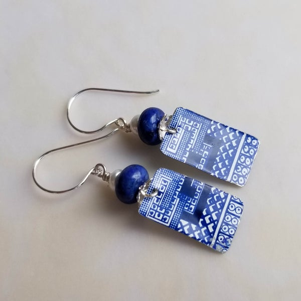 Image of Pottery Shard Earrings - 13