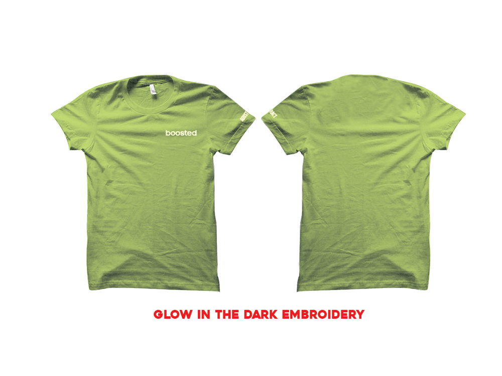 """BOOSTED EMBROIDERY """"GLOW"""" T-SHIRT"""