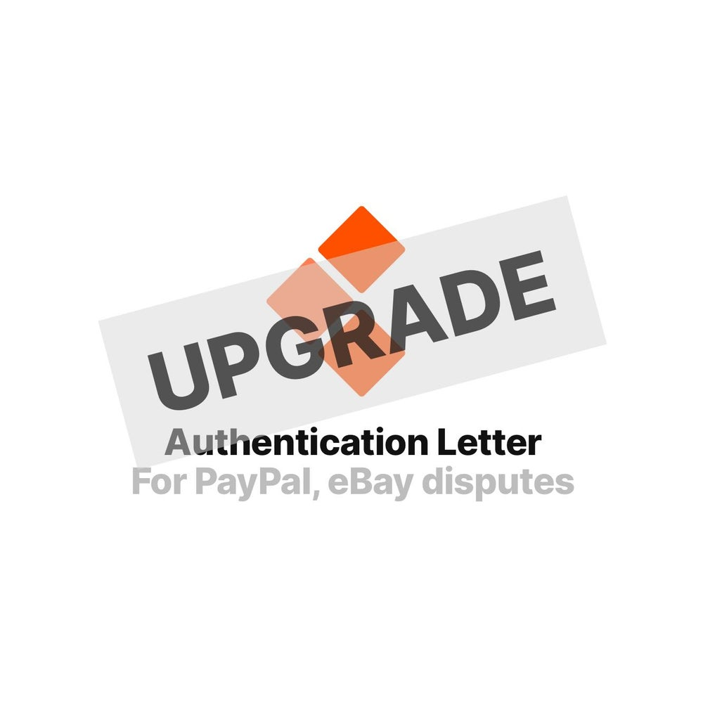 Image of Upgrade (Legit Check Service -> Authentication Letter)