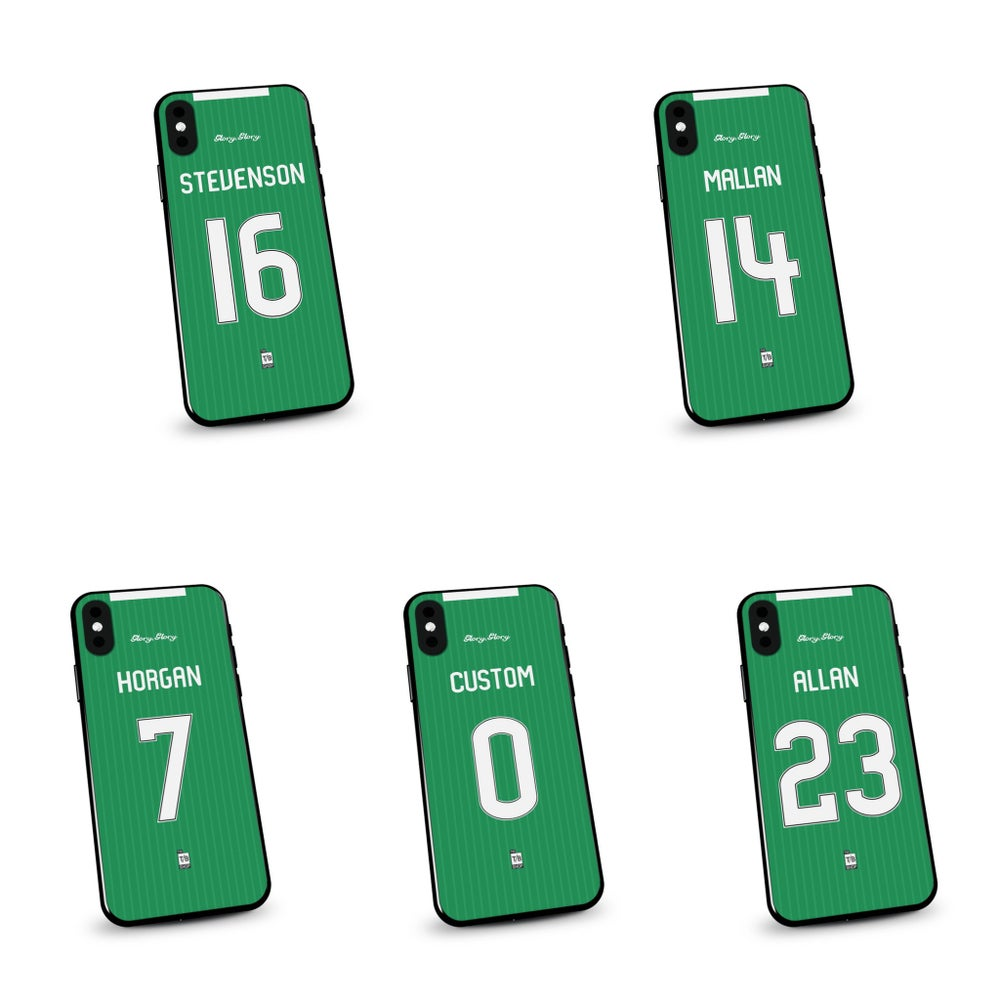 Image of Hibs 19/20 home shirt phone case