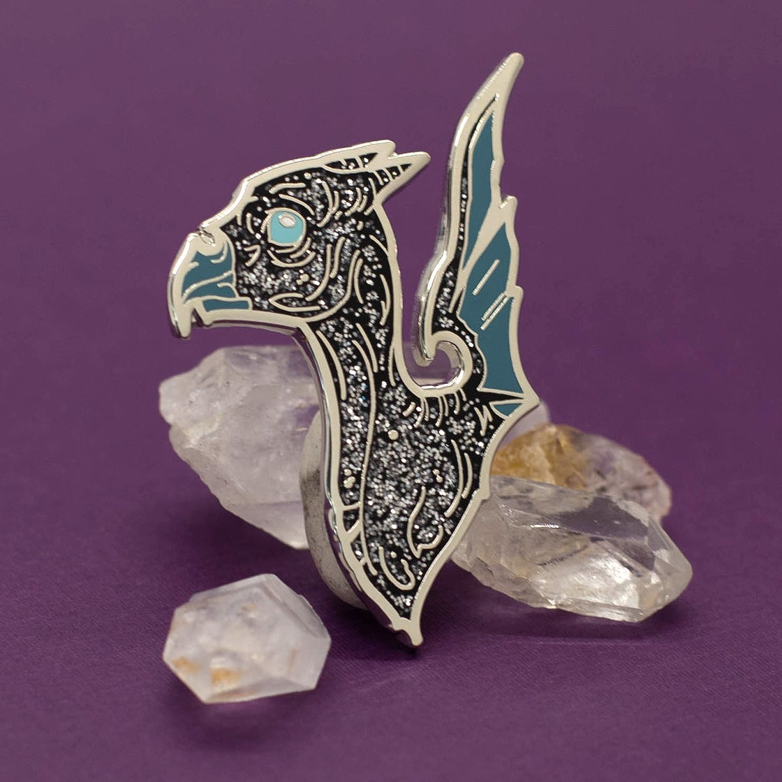 Image of CLEARANCE Grade B Silver Glitter Baby Thestral