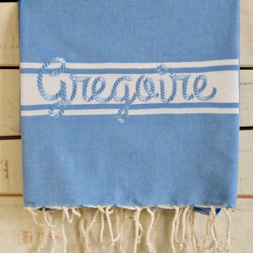 Image of Fouta 100% Coton Recyclé - Tissage Plat