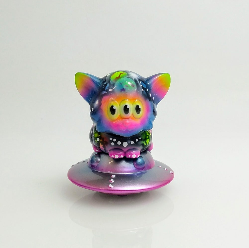 Image of Baby Calm Cat Neon Galaxy custom
