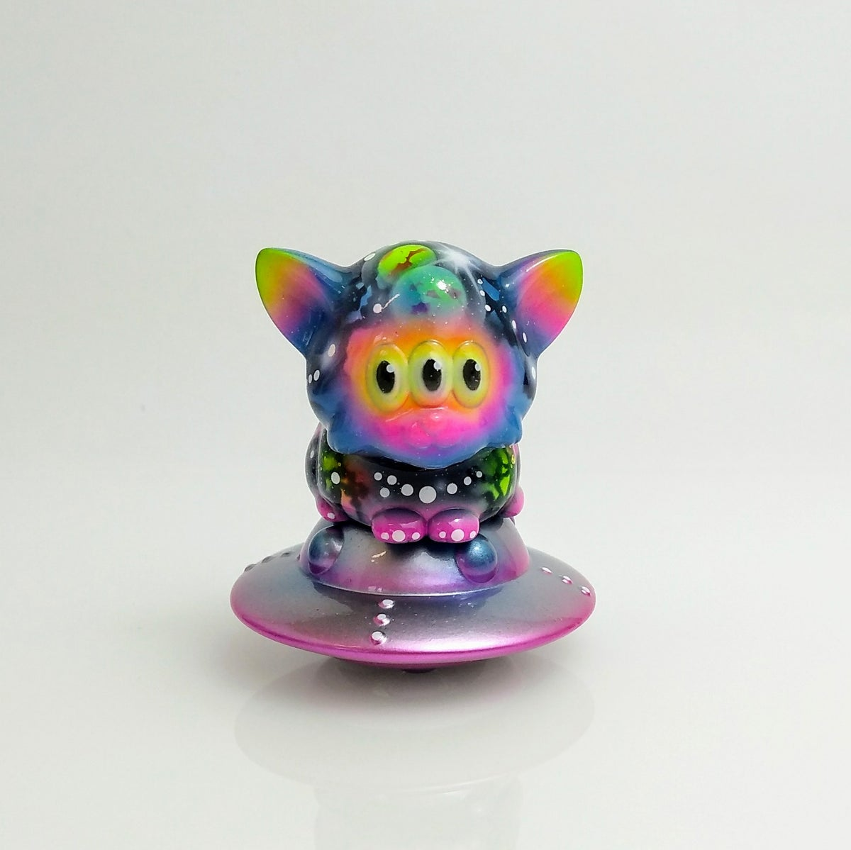 Image of Baby Calm Cat Neon Galaxy custom
