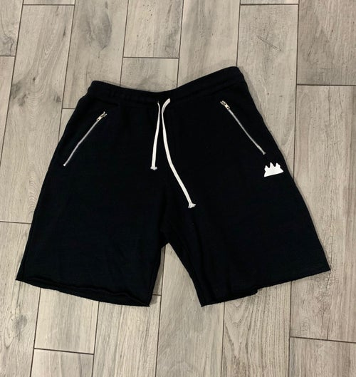 Image of Cotton Fleece Zipper Shorts