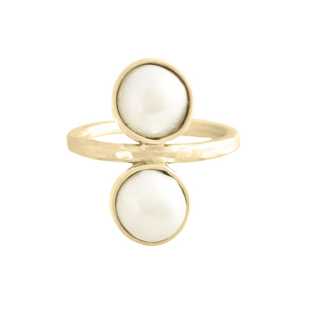 Image of Ula Baroque Pearl Ring - Gold