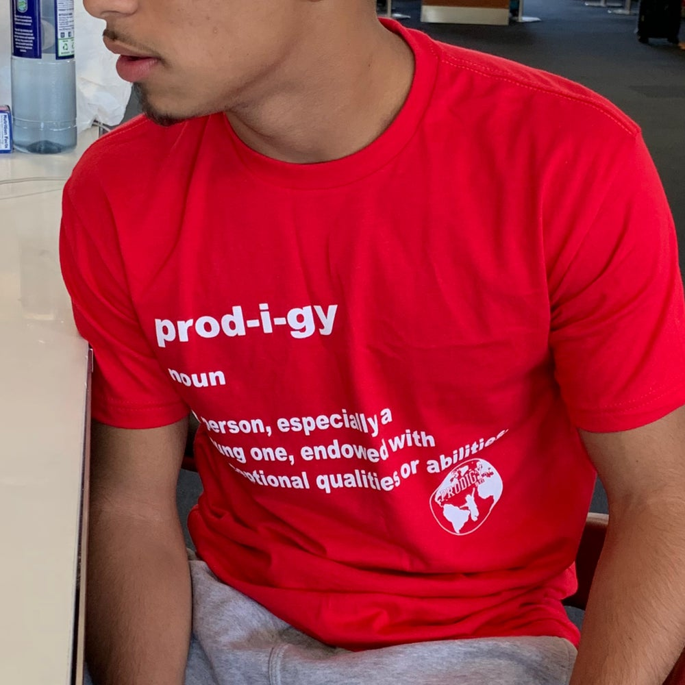 NEW BRAND PRODIGY DEFINITION RED T SHIRT