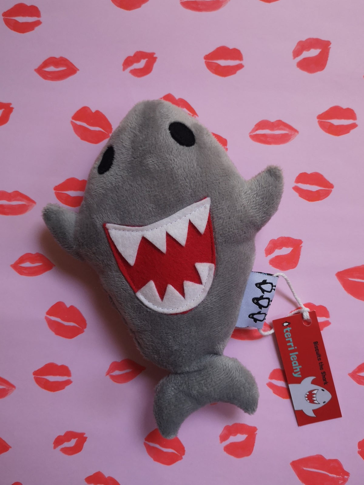 Image of Smiley shark soft toy