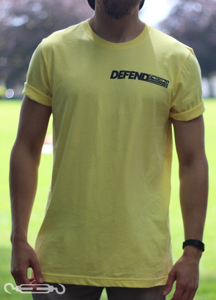 Image of DEFEND 'Community' Yellow Shirt