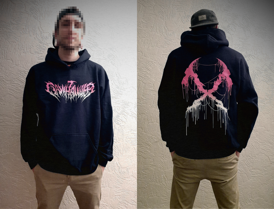 """Image of """"The Classic"""" Gradient Pink Logo Hoodie"""