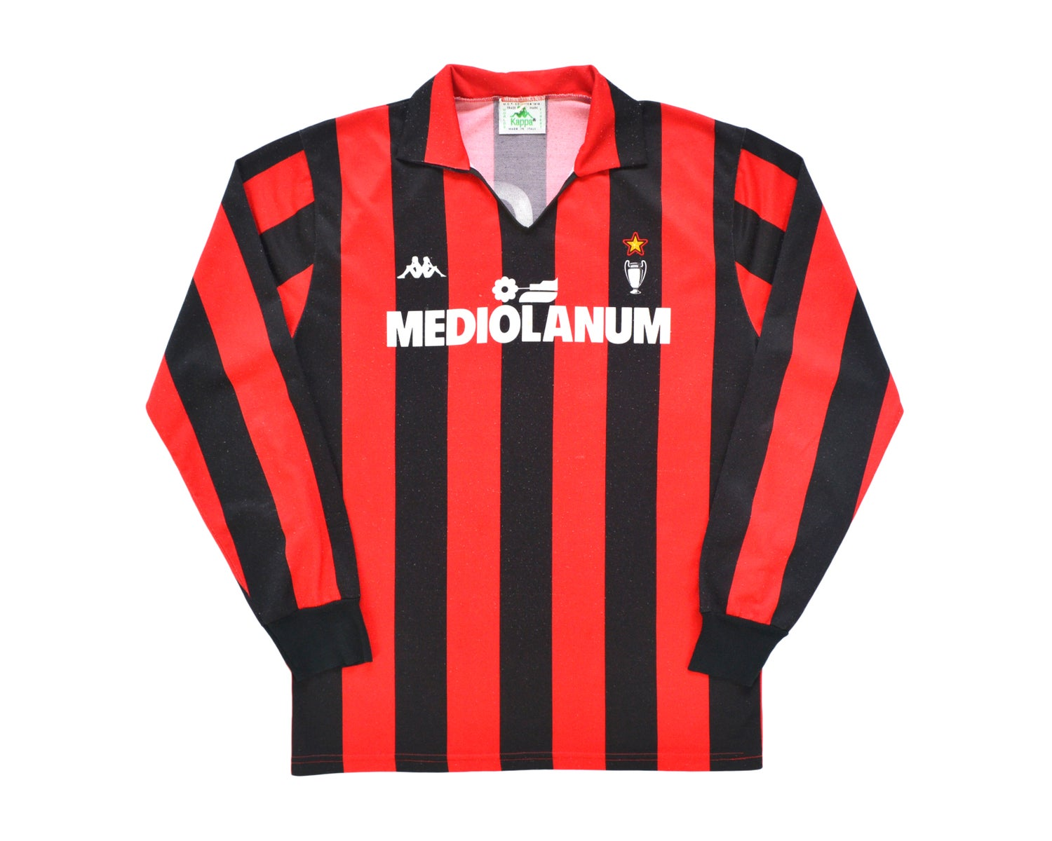 Image of 1989-90 Kappa AC Milan Home Shirt 'Gullit 10' M