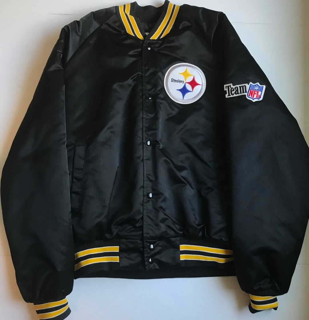 best service 5448c dd457 Vintage Pittsburgh Steelers Chalk-Line Varsity Jacket - L