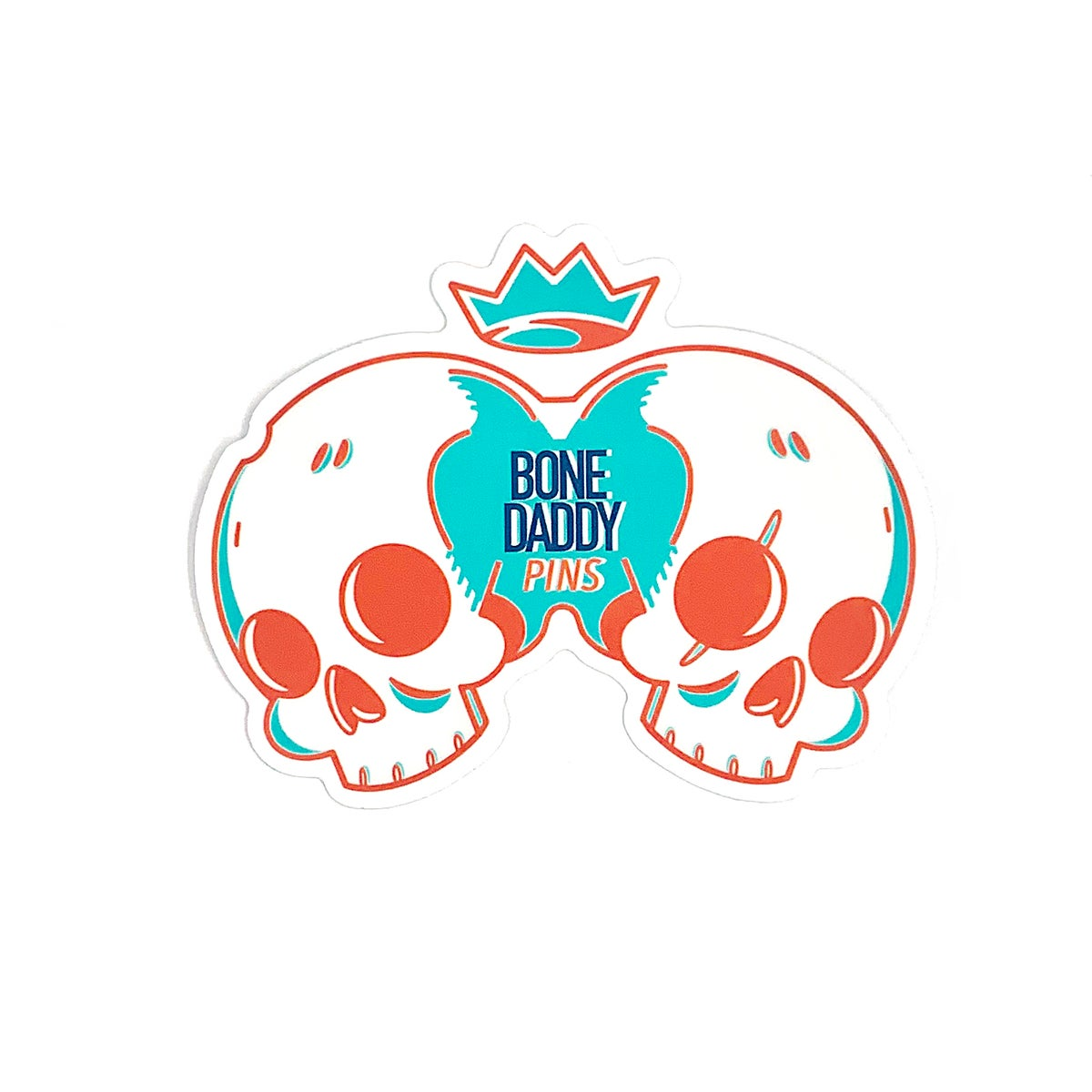 Image of Conjoined Skull Sticker