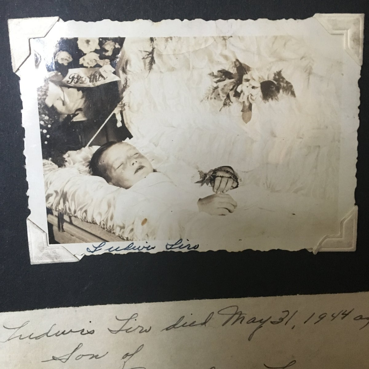 Image of 7-Year-Old Boy Postmortem Photograph