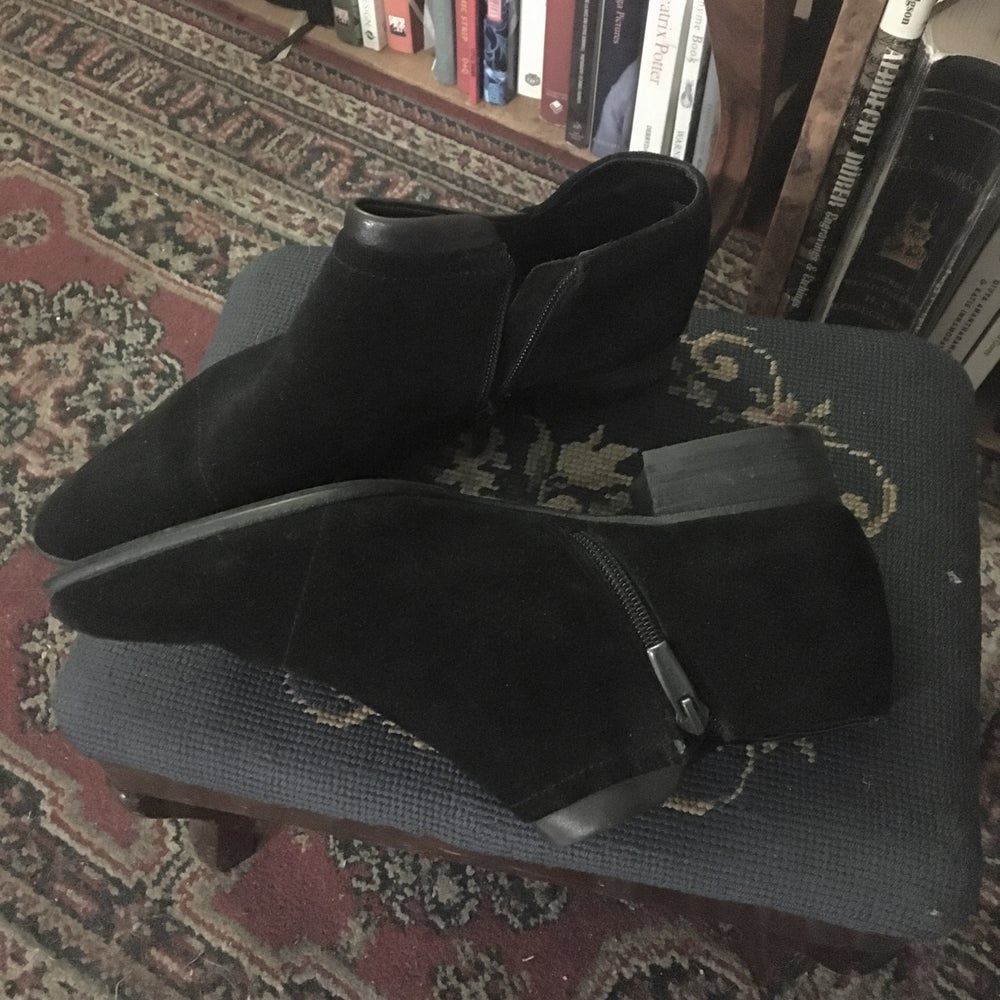 Image of Black Suede Winklepickers