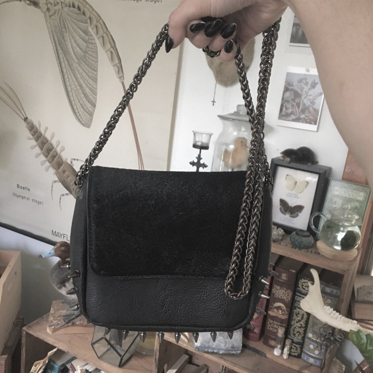 Image of Black Spiked Purse