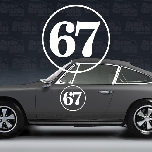 Image of RACING NUMBER 370 - 1 X SERIF STYLE