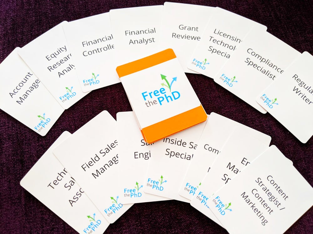 Image of Free the PhD Career Card Deck