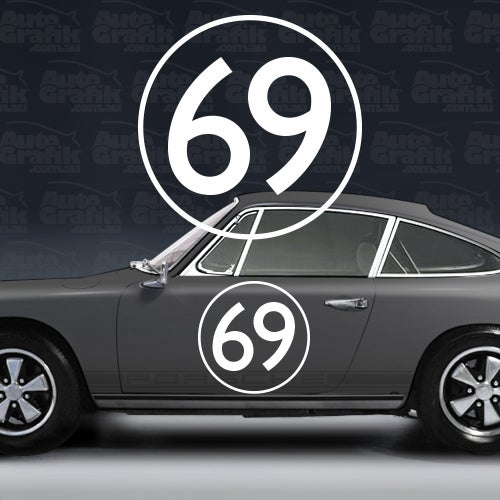 Image of OVERSIZED RACING OUTLINE DISC 530 PLUS NUMBER - 1 X THIN SAN SERIF STYLE