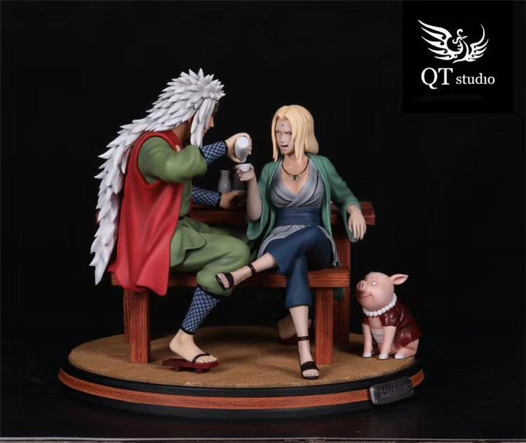 Image of (Pre-order)naruto jiraya and tunade Resin Statue