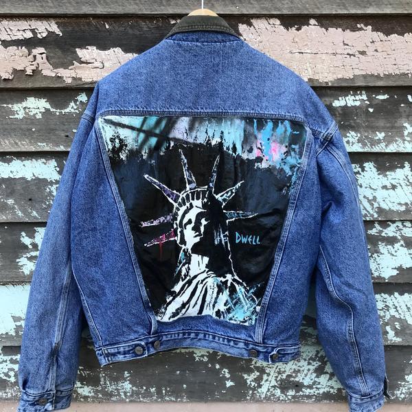 Image of 'Dwell' Painted Jacket by Jordan Rush