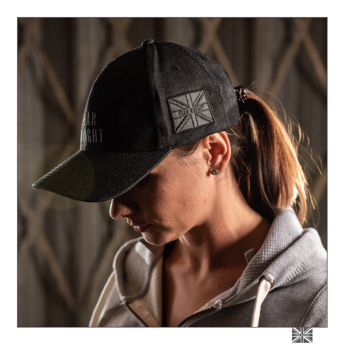 Image of Fear Naught Black Denim Cap