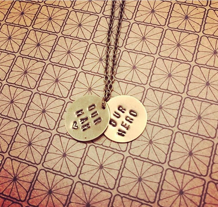 Image of Personalised Disc Necklace or keyring (1, 2 or 3 discs)