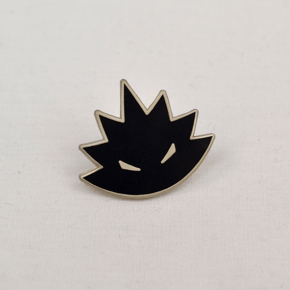 Image of Angry Hedgehog Logo Pin