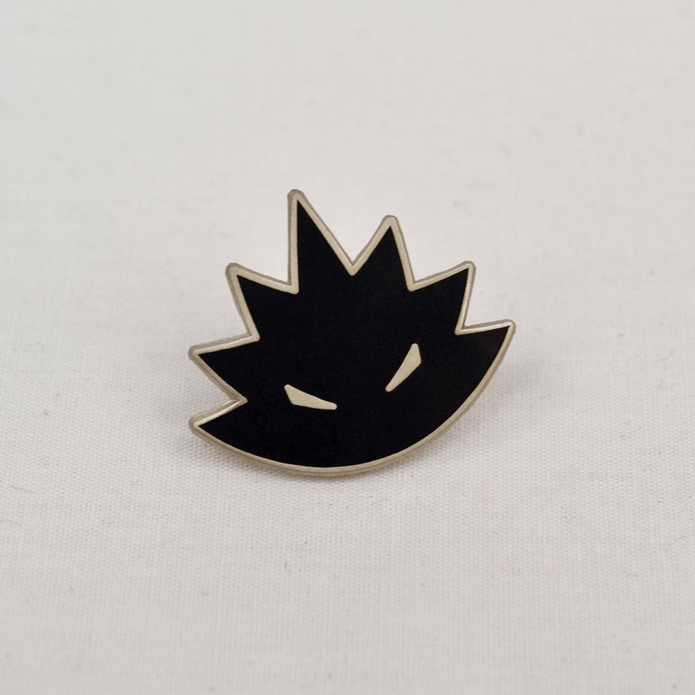 Image of Angry Hedgehog Logo Pin