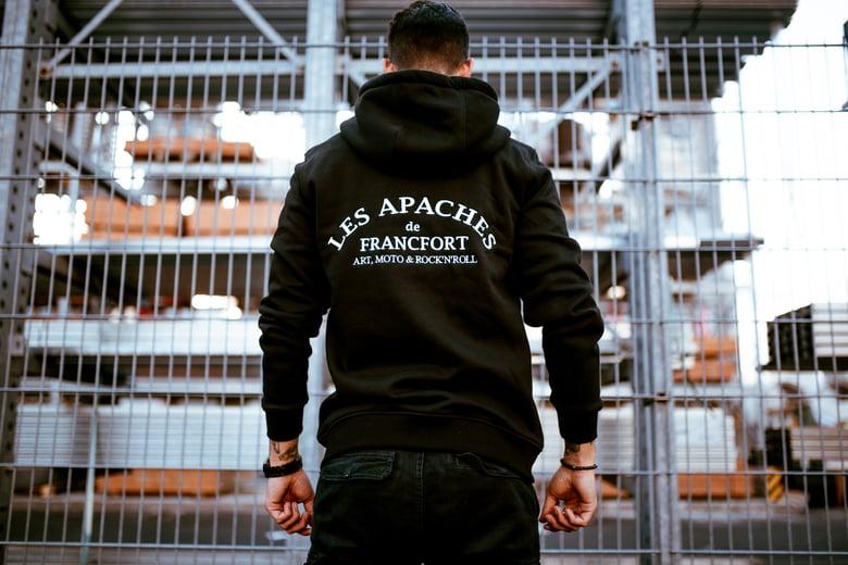 Image of Les Apaches Heavy Zip Hoody Black