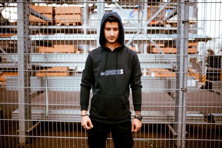 Image of Les Apaches Hoody Black / Navy