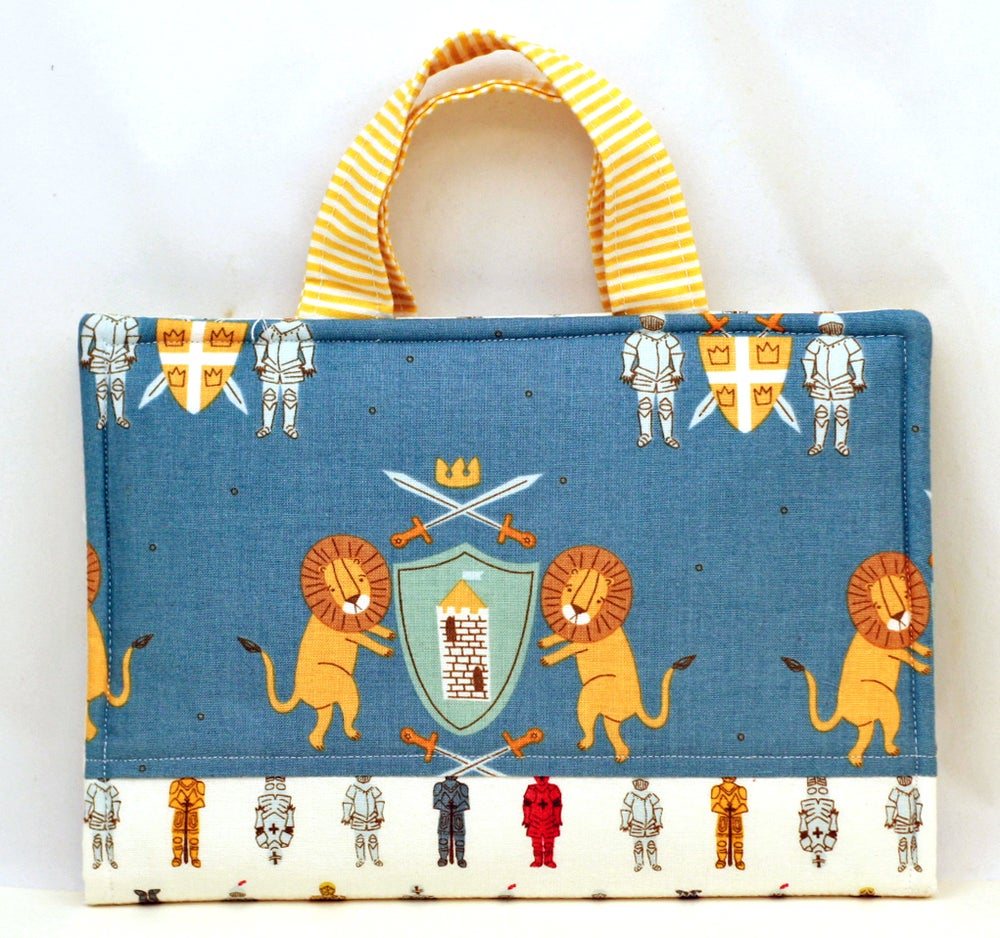 Image of Knights and Lions Crayon Art Folio Complete Sewing Kit