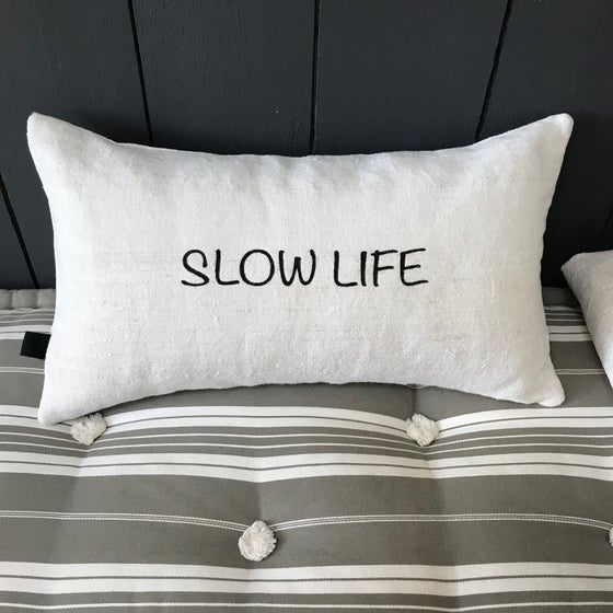 Image of Coussin en chanvre SLOW LIFE.