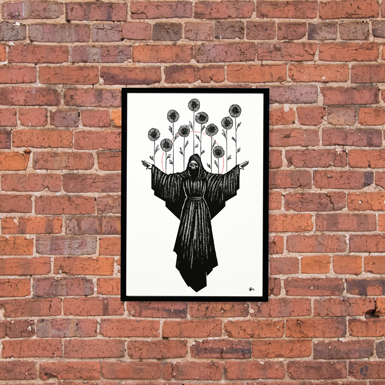 "Image of ""Ten of Wands"" 13""x19"" Art Print"