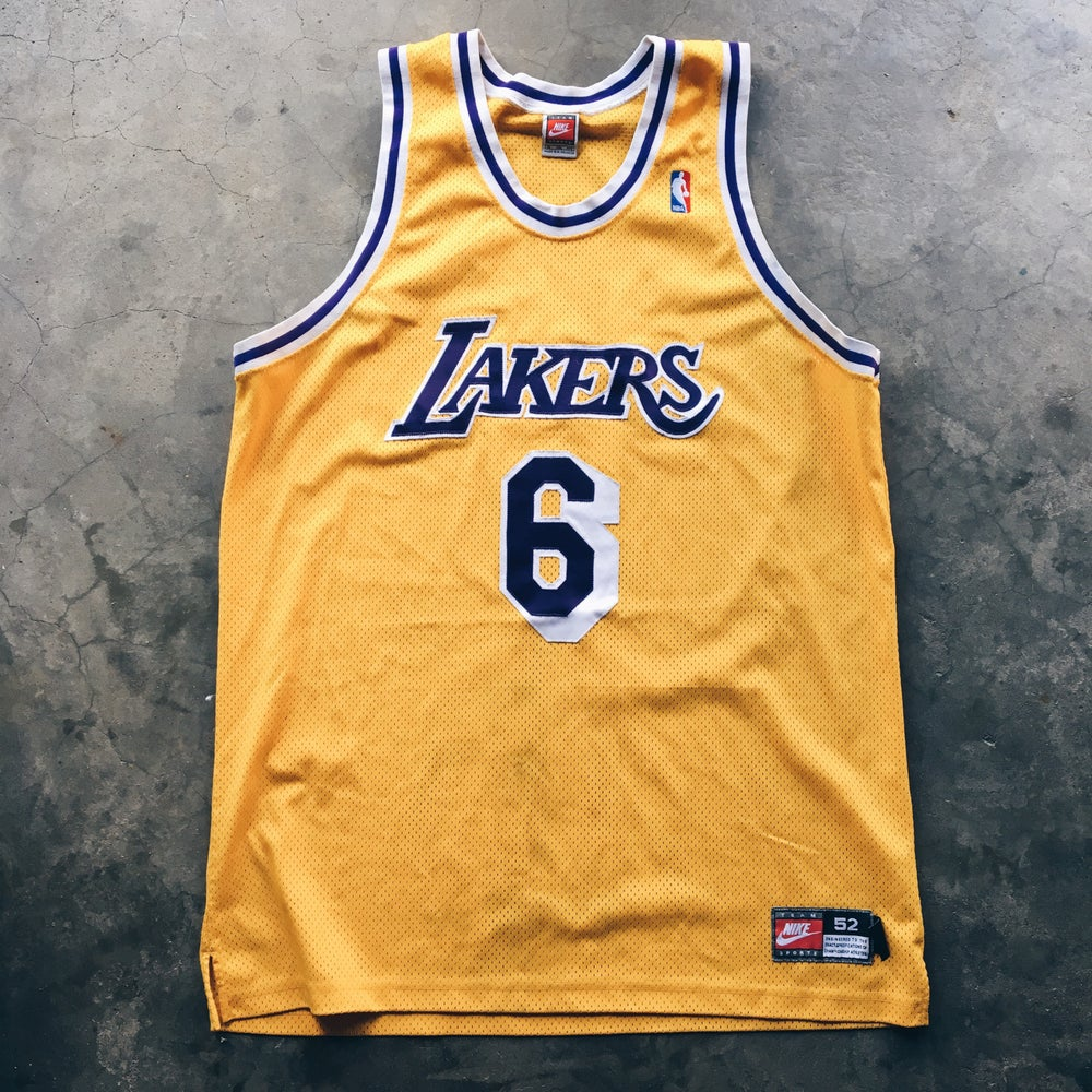 Image of Original 1999 Nike Eddie Jones Los Angeles Lakers Pro Cut Authentic.