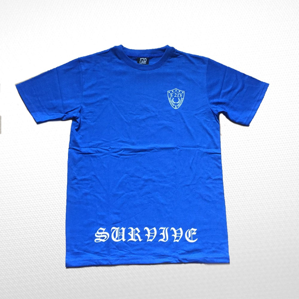 Image of ROYAL BLUE SURVIVE T-SHIRT