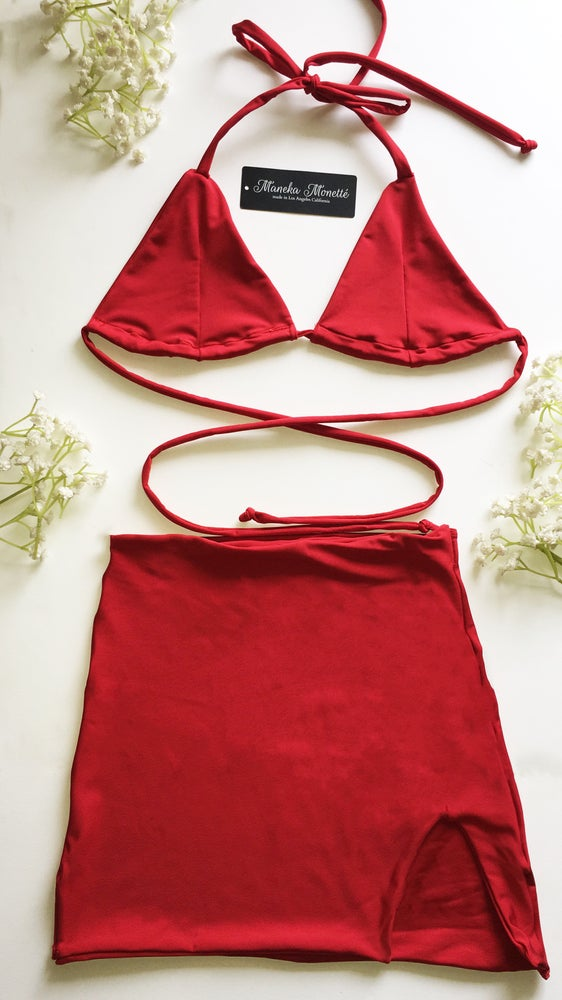 Image of Cherry Red Party Girl Set