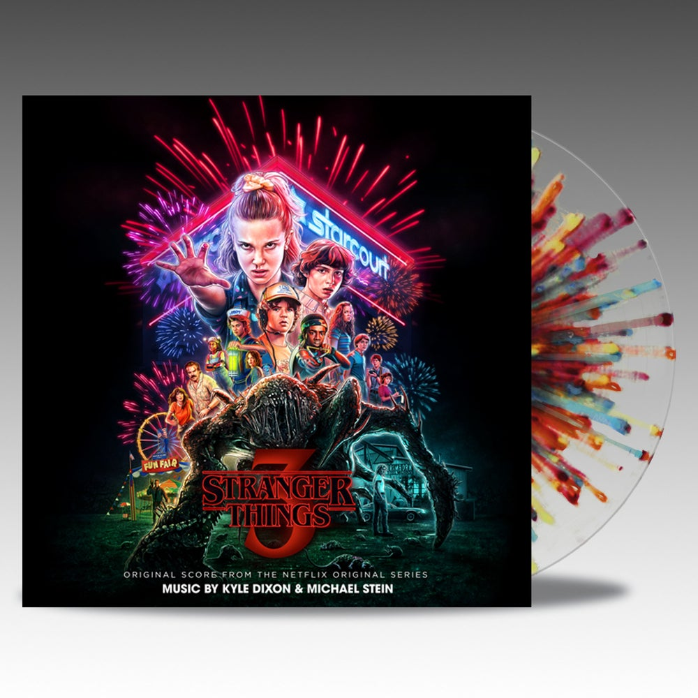 Image of Stranger Things Season Three 'Fireworks Splatter' Vinyl - Kyle Dixon & Michael Stein